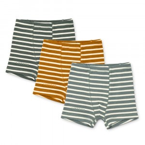 Liewood Felix Boxers (3-pack) Stripe: Blue Fog Multi Mix