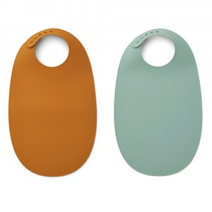 Liewood Ilana Silicone Slab (2-pack) Mustard Peppermint Mix