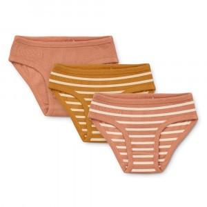 Liewood Nanette Slips (3-pack) Stripe: Tuscany Rose Multi Mix