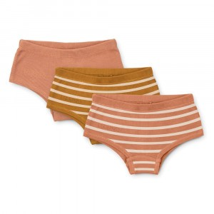 Liewood Nicky Hipsters (3-pack) Stripe: Tuscany Rose Multi Mix