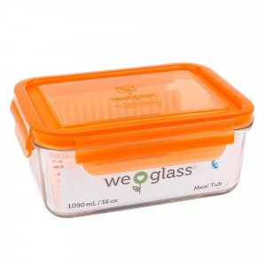 Wean Green Glazen Meal Tub Oranje