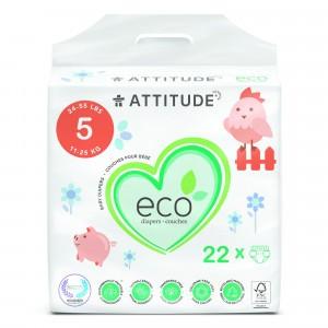 Attitude Baby Care Luier maat 5 (22 stuks)