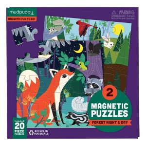 Mudpuppy Puzzel Magnetic Fun Forest Night & Day