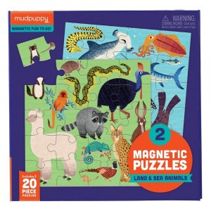 Mudpuppy Puzzel Magnetic Fun Land & Sea Animals