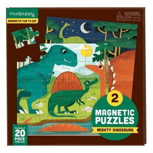 Mudpuppy Puzzel Magnetic Fun Mighty Dinosaurs