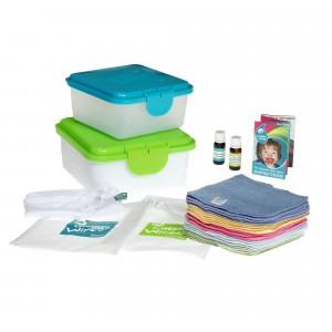 Cheeky Wipes Kit Maxi met Premium Katoenen Doekjes Gekleurd