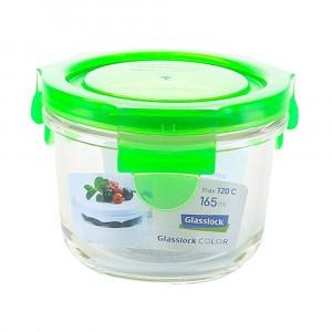 Glasslock Glazen Bewaardoos Rond 165 ml Groen