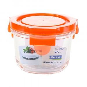 Glasslock Glazen Bewaardoos Rond 165 ml Oranje