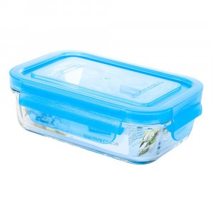 Glasslock Glazen Bewaardoos Rechthoekig 400 ml Blauw