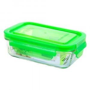 Glasslock Glazen Bewaardoos Rechthoekig 400 ml Groen