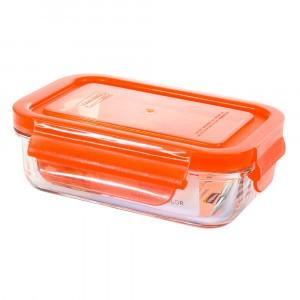 Glasslock Glazen Bewaardoos Rechthoekig 400 ml Oranje