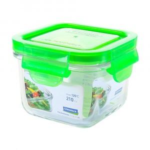 Glasslock Glazen Bewaardoos Vierkant 210 ml Groen