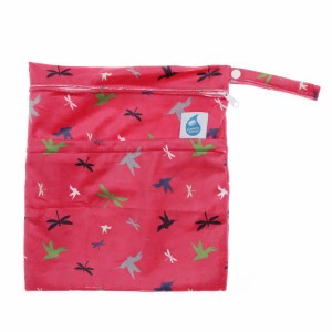 Cheeky Wipes Dubbele Waszak Minky Medium Libel en Vogels Roze