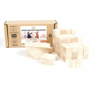 Just Blocks Houten Blokken Medium Pack (166 stuks)