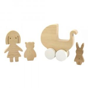 Pinch Toys Houten Set Mini Meisje