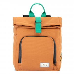 Dusq Mini Bag Canvas Sunset Cognac/Forest Green