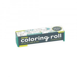 Mudpuppy Mini Coloring Roll By Air, Land & Sea