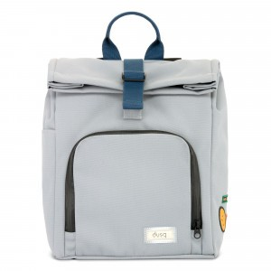 Dusq Mini Bag Canvas Cloud Grey/Ocean Blue