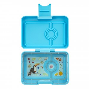 Yumbox Mini Nevis Blue met Toucan Tray