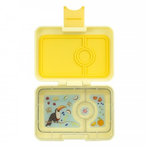 Yumbox Mini Sunburst Yellow met Toucan Tray