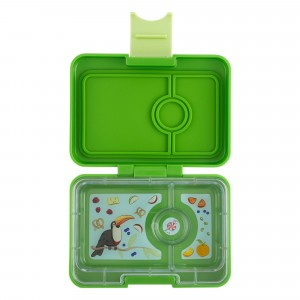 Yumbox Mini Cilantro Green met Toucan Tray