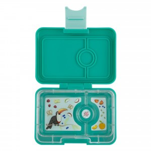 Yumbox Mini Kashmir Blue met Toucan Tray