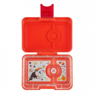 Yumbox Mini Saffron Orange met Toucan Tray