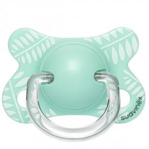 Suavinex Fopspeen Fusion Fysiologisch Silicone 0-4 maand Blaadjes Mint