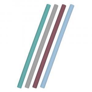 MiniKOiOi Silicone Rietjes Mix Blauw (4 stuks)