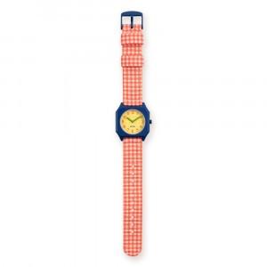 Mini Kyomo x TINYCOTTONS Horloge Vichy Red