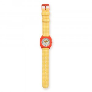 Mini Kyomo x TINYCOTTONS Horloge Vichy Yellow