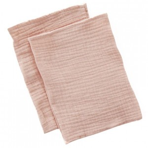 Mundo Melocoton Tetra Washandjes Organic Cotton Blush set van 2