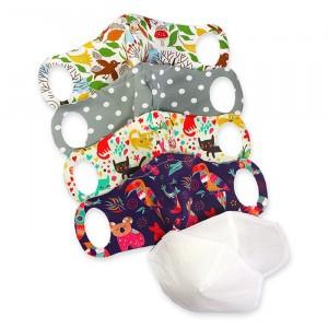 Petit Lulu Wasbare Mondmaskers (4-pack) XS 'voor kinderen +7 jaar' met 2 nanofiber filters