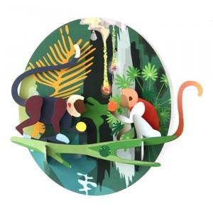 Studio Roof 3D Jungle Animals - Monkeys