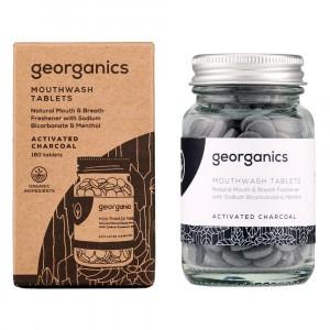 georganics Mondwatertabletten - Actieve Kool (180 stuks)