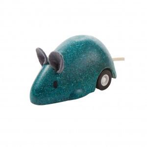 PlanToys Bewegende Muis Blauw