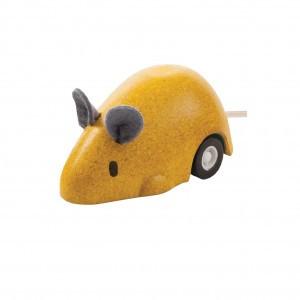 PlanToys Bewegende Muis Geel