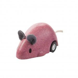 PlanToys Bewegende Muis Roze
