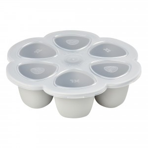 Beaba Siliconen Tray Multiportions XL Mistgrijs (6 x 150 ml)