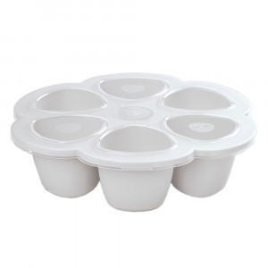 Beaba Siliconen Tray Multiportions Mistgrijs (6 x 90 ml)