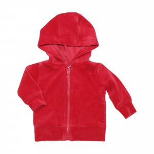 Mundo Melocoton Hoodie (maat 50-92) Velours Rood