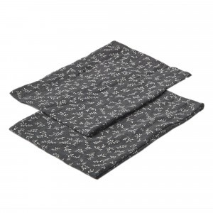 Mundo Melocoton Tetra Washandjes Organic Cotton Billie Grey (set van 2)