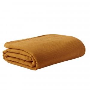 Mundo Melocoton Tetra Wiegdeken Organic Cotton Cinnamon