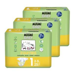 Muumi Eco Wegwerpluiers Maat 1 (3 pakken) Voordeelpakket
