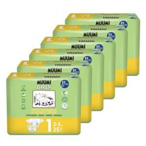Muumi Eco Wegwerpluiers Pasgeboren (6 pakken) Voordeelpakket