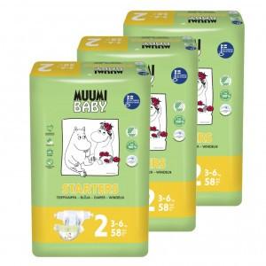 Muumi Eco Wegwerpluiers Maat 2 (3 pakken) Voordeelpakket