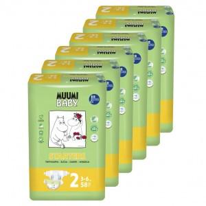 Muumi Eco Wegwerpluiers Mini (6 pakken) Voordeelpakket