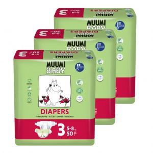 Muumi Eco Wegwerpluiers Midi (3 pakken) Voordeelpakket