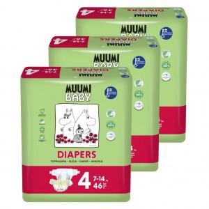 Muumi Eco Wegwerpluiers Maat 4 (3 pakken) Voordeelpakket