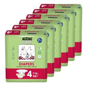 Muumi Eco Wegwerpluiers Maxi (6 pakken) Voordeelpakket